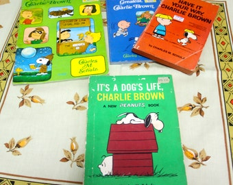 Classic Charlie Brown- 4 Paperbacks from 1965- 1979
