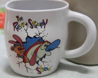 Collectors -Ren-Stimpy-Smashed-Mug-1992-Dakin-Vintage