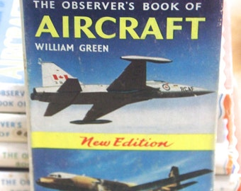 Vintage 1966 Observer's Book of Aircraft- William Green