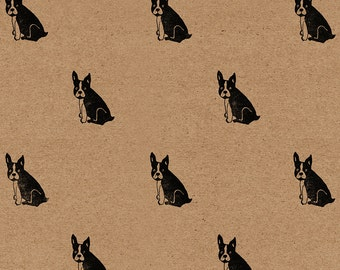 "French Bulldog Wrapping Paper: Frenchie Kraft Gift Wrap Sheet (70 cm x 50 cm / 27.5"" x 19.5"")"