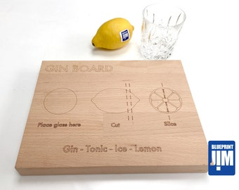 Gin Board Solid Beech Cutting Board
