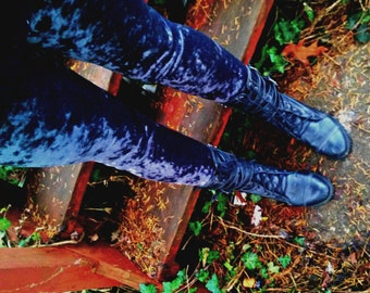 Crushed velvet Leggings pants custom color in your size