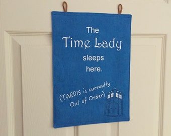Time Lady Hand Dyed Linen Wall Hanging