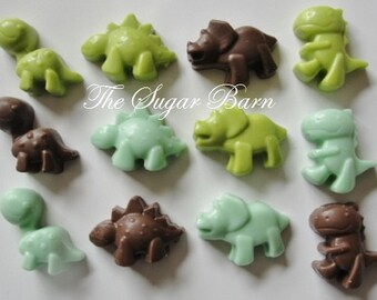 DINOSAUR CHOCOLATE CupCake Toppers*24 Count*Reptile Party*Dinosaur Favor*Baby Dinos*Birthday Party Favor*Baby Shower Favor*Paleontologist