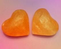 Himalayan Salt Heart Shaped Massage, Deodorant or Exfoliant Stone