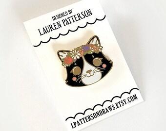 Cat Lapel Enamel Pin Button Flair
