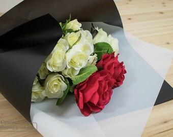 Flower bouquet gift wrapping paper_Waterproof Flower Handtied bouquet wrapper