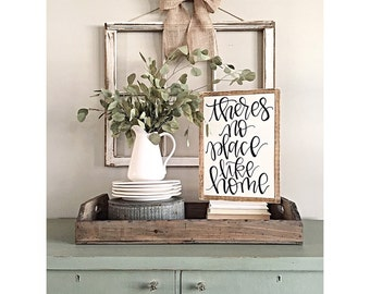 Theres No Place Like Home | Hand Painted Sign | Wood Sign | Home Decor | Wall Decor | Rustic | Farmhouse
