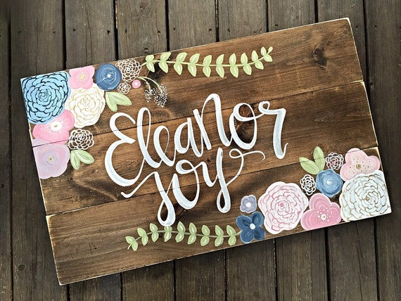 Nursery decor name sign rustic decor home decor girl for Home decor names