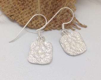 Ear pendants lace in silver