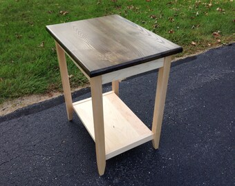 Maple and Ash end table