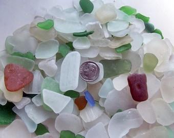 Beach Decor / Craft Supply / 200 Beautiful and Unique Mix Sea Glass / Jewelry Grade / Jewelry Maker Supply / Terrarium