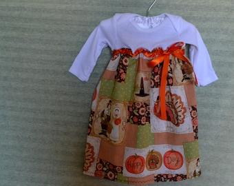 Thanksgiving/Fall Onesie Dress