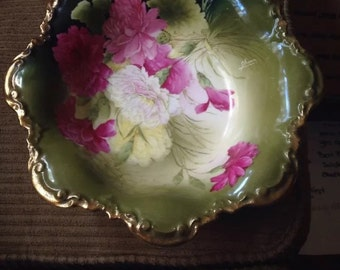 Beautiful hand painted PT GERMANY porcelin fruit bowl