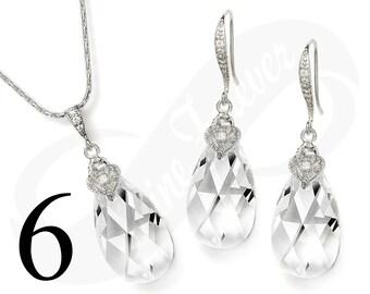 Set of 6 Bridesmaid Jewelry Set Bridesmaid Crystal Jewelry Set Bridesmaid Crystal Jewelry Set Bridal Jewelry Bridal Set Bridesmaid Gift