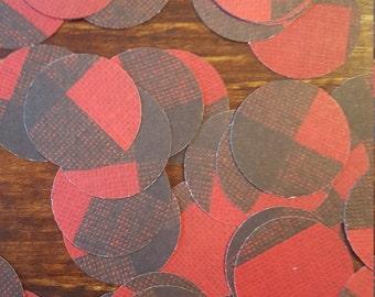 Buffalo Print Paper Confetti, Buffalo Check paper Confetti, Plaid Confetti