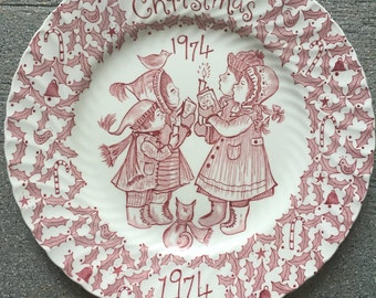 1974 Crownford China Co. Christmas Plate by Norma Sherman
