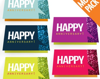 Multi-Pack of 10 - Happy Work Anniversary Cards