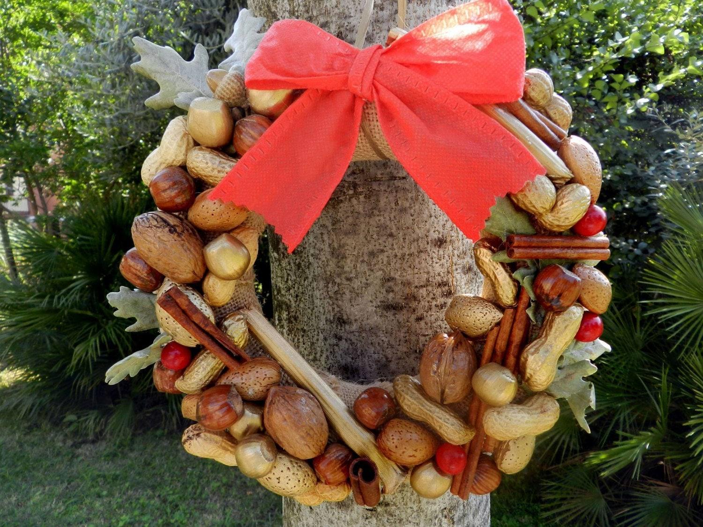 Ghirlanda natalizia con frutta secca originale ghirlanda - Decorazioni con frutta essiccata ...