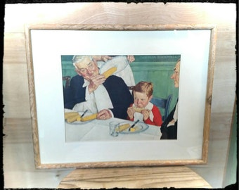 Collectible Rockwell Gee Whiz - There Goes the Last One Print / Rockwell Corn on the Cob Print/ Housewarming Gift / Wall Art / F1067
