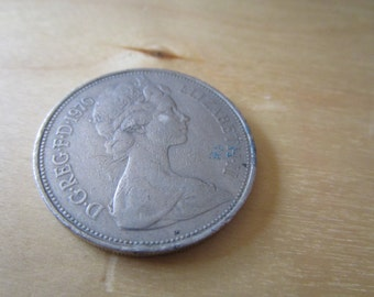 vintage 1970 ten new pence piece  as shown