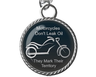 Biker Necklace, Motorcycle, Bikers, Funny Quote Image Pendant Key Chain Handmade