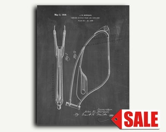 Patent Art - Combined Bicycle Frame Patent Wall Art Print