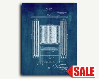 Patent Art - Pipe Organ Patent Wall Art Print