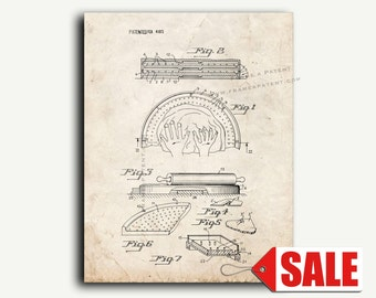 Patent Art - Pizza Pie Making Apparatus Patent Wall Art Print