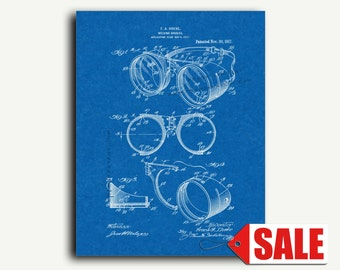 Patent Art - Welding Goggles Patent Wall Art Print