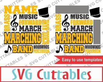 Marching Band SVG, DXF, EPS, Band Subway Art, Vector, Digital Cut File