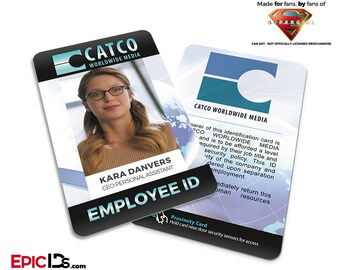 "CATCO Worldwide Media ""SuperGirl"" CEO Personal Assistant Employee ID - Kara Danvers"
