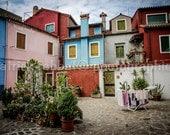 Burano Photo Burano Charm Photo Fine Art Photography European Old World Charm Romantic Venice Venezia Italy Home Decor Wall Art
