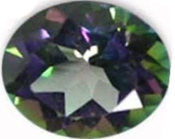 Mystic Northern Lights Topaz Oval Cut Loose Gemstone 1A Quality 10x8mm TGW 3.15 cts.