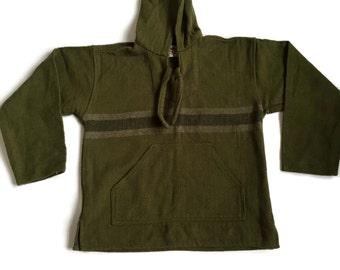 Items similar to Purple Haze Baja Mexican blanket sweater ...