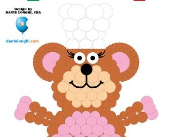 3D Baker Bear Sculpture