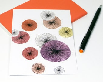 Postcard Flowers – Water Color Illustration