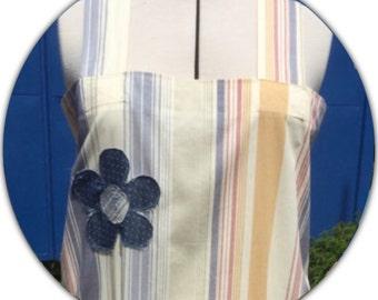 Stylish Square Cross Back Apron, smock apron, Kitchen Apron, Aprons for Women, No Ties Apron