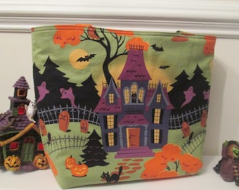 Haunted House Halloween Trick or Treat Bag