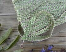 French Vintage 1950's Upholstery Trim/ Gimp Passementerie/Braid Ribbon Trim /Olive green- light rose