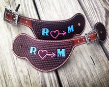 Custom Leather Hand Tooled Pattern Western Spur Straps