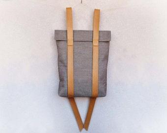 Canvas leather Rucksack, waterproof canvas backpacks, custom rucksack 101