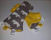 Elephant medium totebag, suck pads, diaper bag, baby shower gift