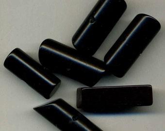 Buttons 6 Vintage Bakelite & Plastic Rods, LRG, Med.