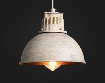 White Kitchen Lighting - pendant light - hanging lamp - ceiling lighting - edison bulb - industrial vintage lamp  - Edison bulb lamp