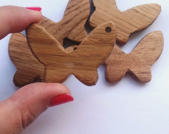 Wooden Teether Butterfly, wooden pendant, wooden toy, wooden handicraft Teether, natural pendant, Teether, Craft
