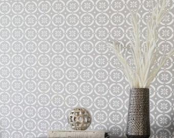 FLOWER POWER Moroccan Wall Furniture Craft Floor Stencil - FP001
