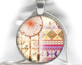 "Native american patterns and dream catchers - 1'' circles, 25mm, 30mm, 1.25"", 1.5"" image for pendants glass cabochons charm resin pendants"