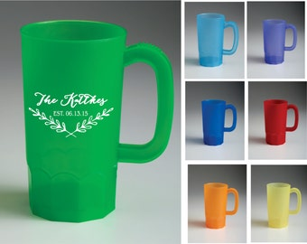 14 oz personalized custom plastic steins wedding party favors