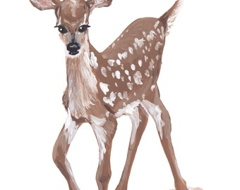 Print of Original Fawn Painting
